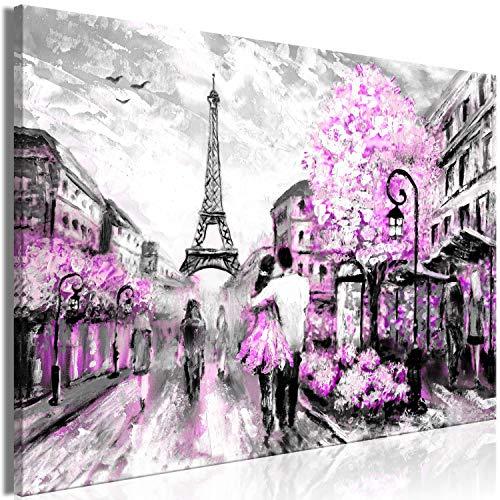 murando Cuadro en Lienzo romantico Pareja 120x80 cm impresión en Material Tejido no Tejido impresión artística fotografía Imagen decoración de Pared como Pintado París Torre Eiffel d-C-0101-b-d