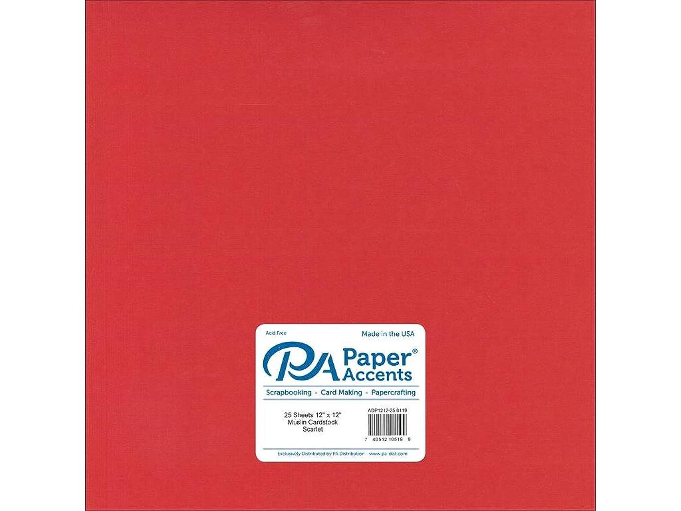 Paper Accents Cardstock 73 lb Scarlet Muslin 12
