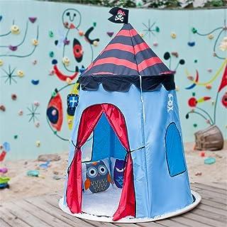 Vobajf Barn lektält pirat tipi-tält för barn baby inomhus och utomhus leker perfekt storlek för barnrum festlektält (färg:...