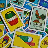 Naipes Gacela Loteria Mexican Bingo, Loteria Mexicana, Mexican Loteria Game Set of 20 Boards and Cards with 100 Bingo Chips