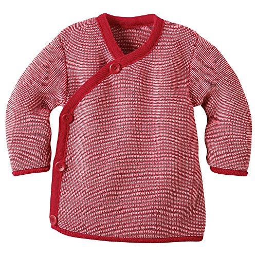 Disana Disana 32535XX - Melange-Jacke Wolle rot/rose (50/56)