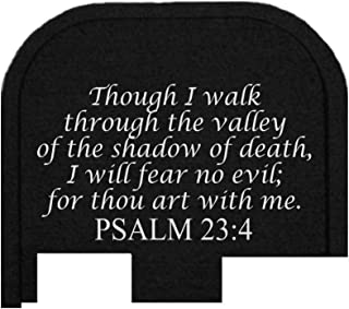 BASTION Laser Engraved Butt Plate, Rear Slide Cover Back Plate for Glock G43, G43X, and G48 9mm ONLY - Psalm 23:4