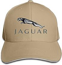 Hittings Jaguar Logo Adjustable Snapback Peaked Cap Baseball Hats Natural