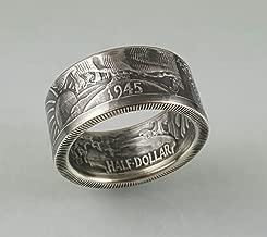 Walking Liberty Silver Coin Ring.