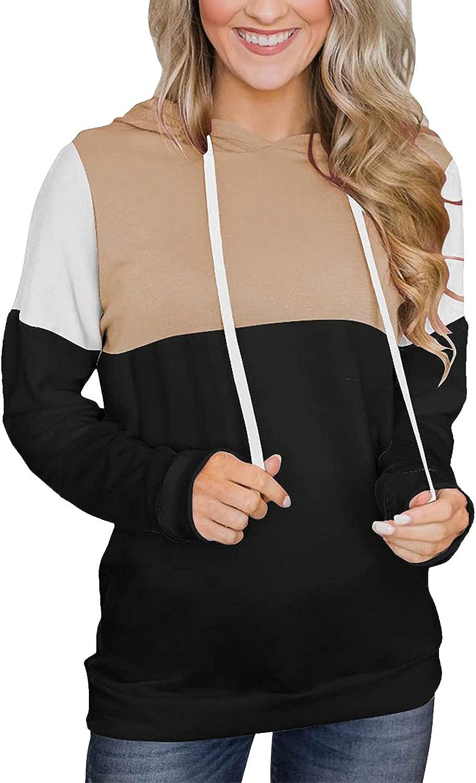Luxury KOKOW Women Stripe Patchwork Hoodie Now free shipping Sweat Casual Thin Drawstring