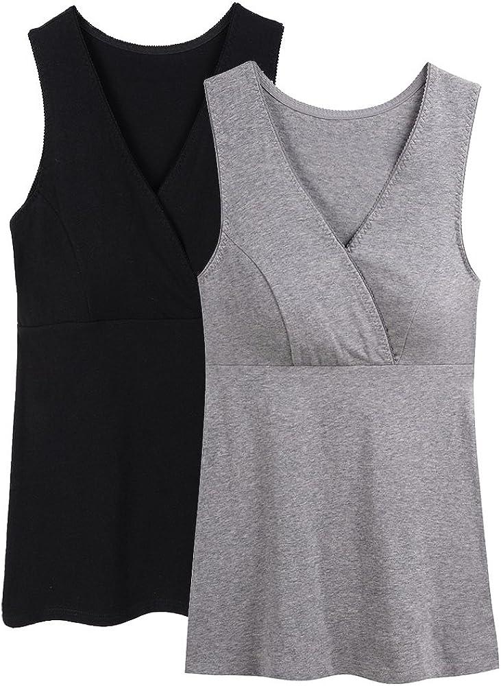 Topwhere/® Femme Tee-Shirt dallaitement Maternit/é Top De Grossesse