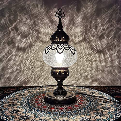 Türkisch Marokkanisch Tiffany-Art-handgemachte Mosaik Tisch, Schreibtisch, Nacht Nacht Schwanenhals-Lampen-Licht-Lampenschirm, Nachtlichter mit Bronze-Basis for Wohnzimmer