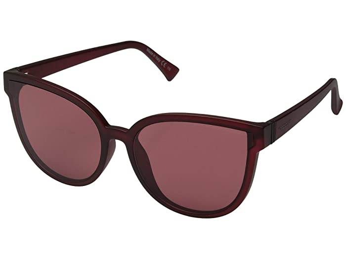 VonZipper Fairchild (Plum Satin/Grey/Rose) Athletic Performance Sport Sunglasses