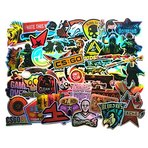 CS Go Sticker Pack For Laptop Luggage Mac Book Guitar Car Bicycle Motorcycle Sticker Colorful Vinyl DIY Decal Sticke50pcs