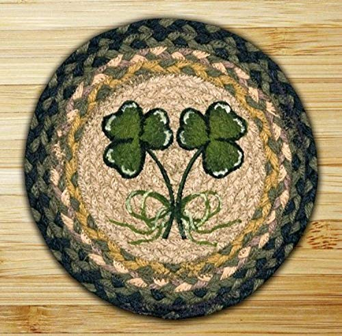 Earth Rugs A Trivet, 10-Inch, Shamrock