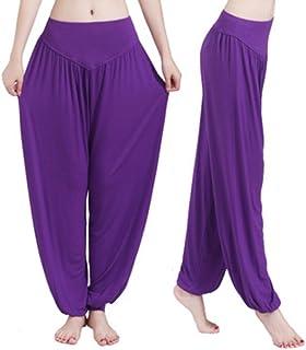 Guandoo Women's 100% Soft Modal Yoga Pants Sports Dance Harem Trousers