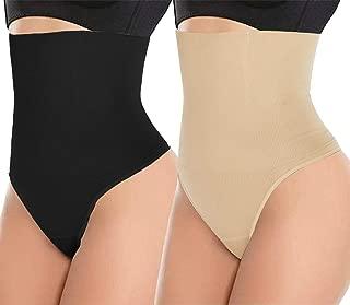 ODOBOU Women Butt Lifter Shapewear Hi-Waist Tummy Slimmer Thong Panty Seamless Body Shaper Shorts