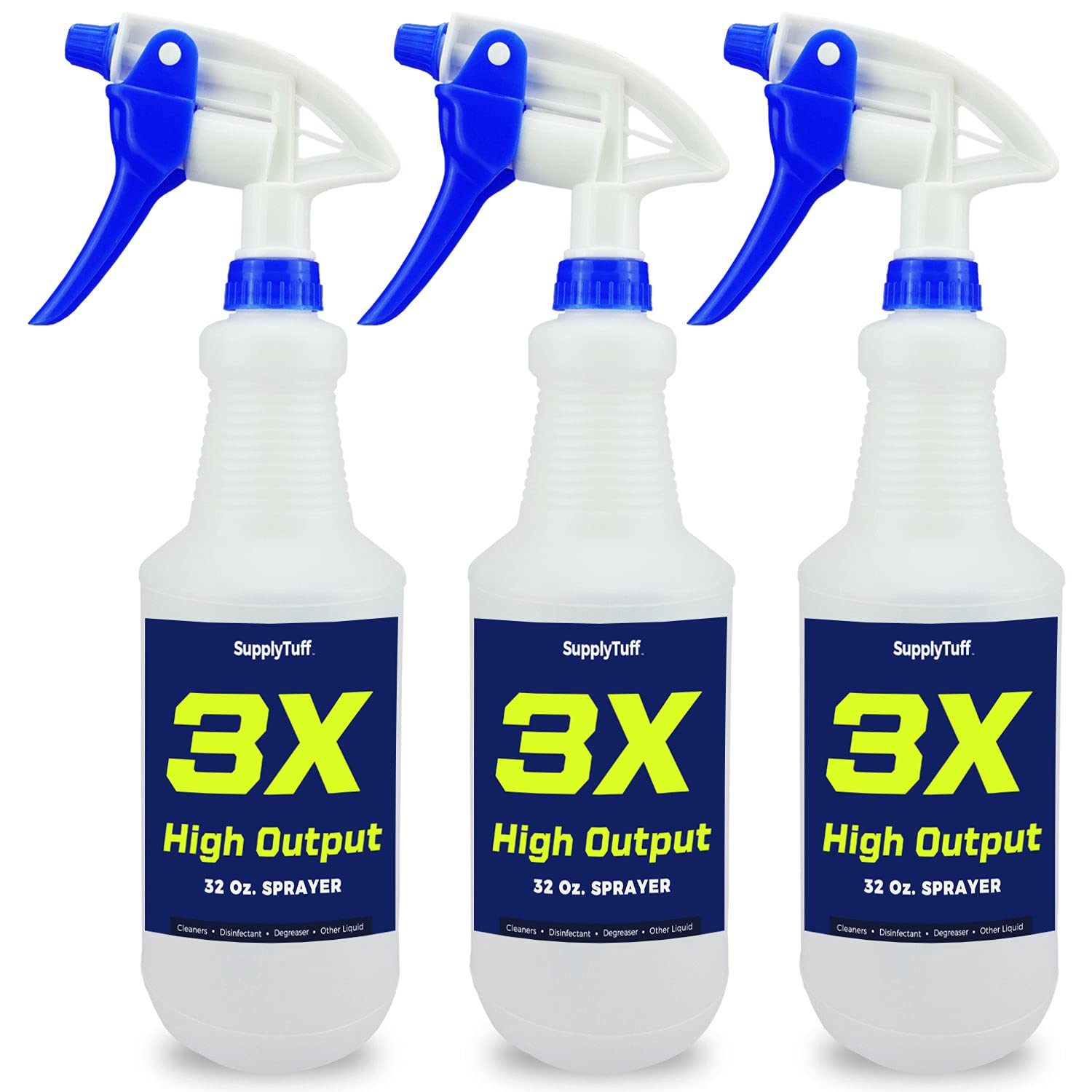 SupplyTuff 3X High Output Colorado Springs Nippon regular agency Mall Heavy Cleaning Spray Bottles for Duty