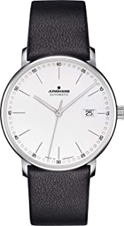 Junghans Watch Form A Automatic Matt Silver Dial Black Leather Strap 027/4730.00