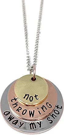 Theatre Nerds 'Not Throwing Away My Shot' tri-Layer Necklace - Broadway Musical Inspired