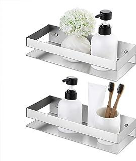 KES Bathroom Shelf Stainless Steel Bath Shower Shelf Basket Caddy RUSTPROOF Square Modern Style Wall Mounted Brushed Finis...
