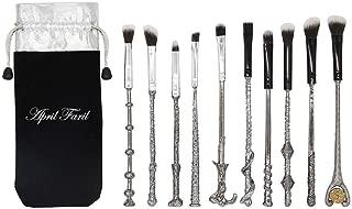 Apr.Fairy Wizard Wand Potter Makeup Brushes set with Gift Bag 10pcs Metal Magic Eye Shadow Eyeliner Blending Pencil Lip Brush Beauty Tools