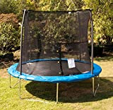 JumpKing 10 Foot Outdoor Trampoline and Safety Net Enclosure, Blue | JK10VC1