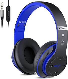 6S Wireless Headphones Over Ear,Hi-Fi Stereo Foldable Wireless Stereo Headsets Earbuds with Built-in Mic,Volume Control,Mi...