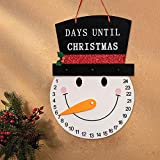 YEAHOME Snowman Advent Calendar 2020, 13inches Days Until Christmas Countdown Indoor/Outdoor Hanging Sign Christmas Decoration, Wall Decor