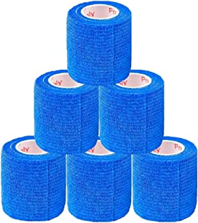 2 Inch Vet Wrap Tape Bulk (Assorted Colors) (6, 12, 18, or 24 Packs) Self-Adhesive Self Adherent Adhering Flex Bandage Rap...