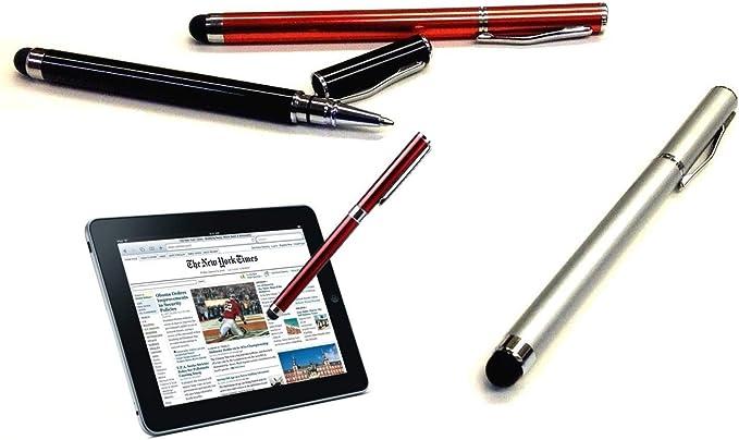 Writing Pen with Ink for Huawei Mate 20 Lite ! 3 Pack-Silver Tek Styz PRO Custom Stylus