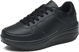 Mujer Zapatillas de cuña Sneakers Running Casuales Deporte Zapatos