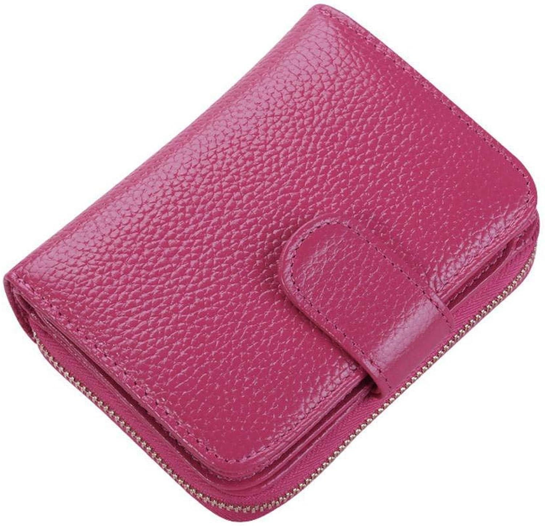 Girls Purse Women's Wallet,Short Lady Purse Zipper Card Bag 2.5  9  11.5cm, (color   D)