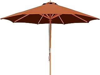 Island Umbrella NU5426TC Tranquility Patio Market Umbrella, Terra Cotta (Renewed)