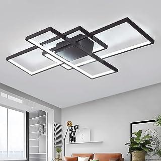 Lampa sufitowa LED, do salonu, ściemniana, z pilotem zdalnego sterowania, 3000 K – 6000 K, nowy projekt, nieregularna pros...