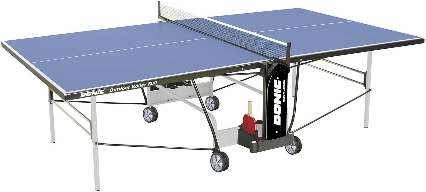 Donic Outdoor Roller 800–5Placa de Tenis de Mesa, Gris Claro de Negro de Color Azul, One Size