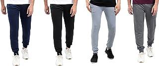 Off Cliff Elastic Trim Drawstring Waist Side Welt Pockets Slim Fit Sweatpants for Men, Set of 4