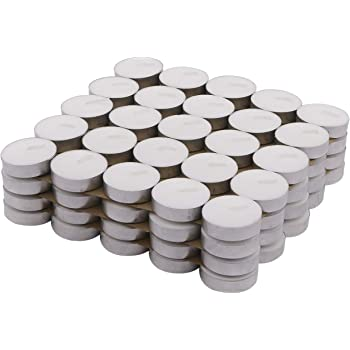 3dbugz Paraffin wax Tea Light, Pack of 50, Unscented