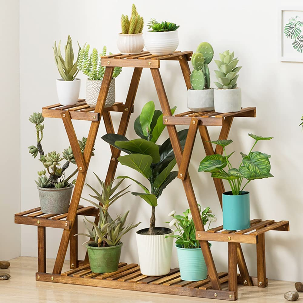 Mindore 4 2021 new Tier Pine Wood Plant for Super intense SALE Stands Potted Stand Ind