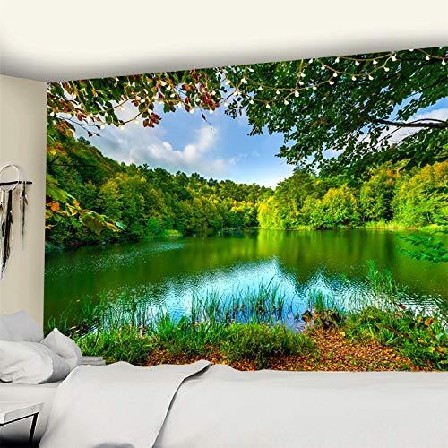 Paisaje natural tapiz colgante de pared hermosa planta bohemia impresión dormitorio decoración de la pared tela de fondo a2 180x200cm
