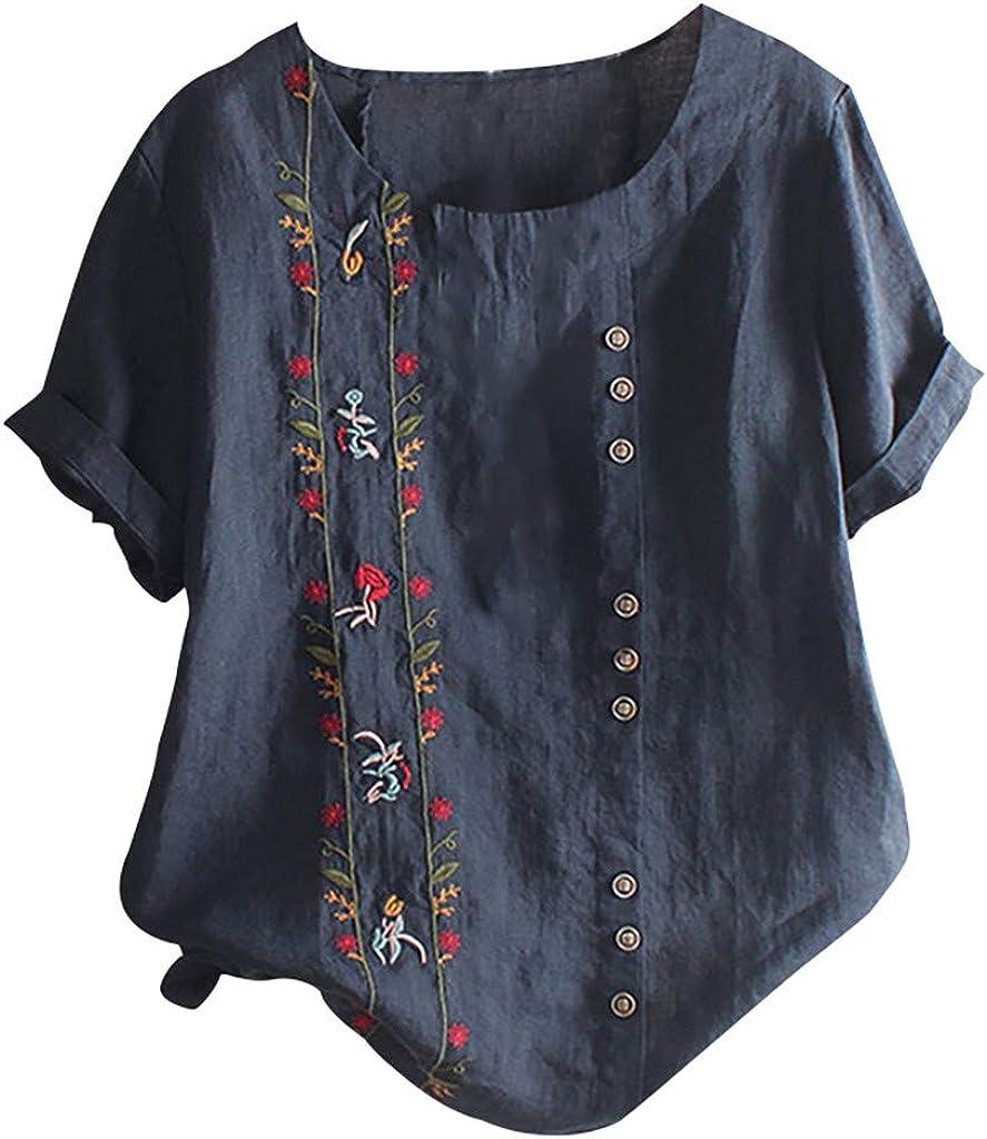 Paisley Shirt Short Sleeve Casual Crew Neck Floral Vintage Mens Top Tees UK