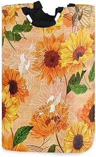 N\A Panier à Linge, Motif de Tournesol Fleur paniers de Rangement de Linge vêtements Pliables Sac Organisateur de Jouets p...