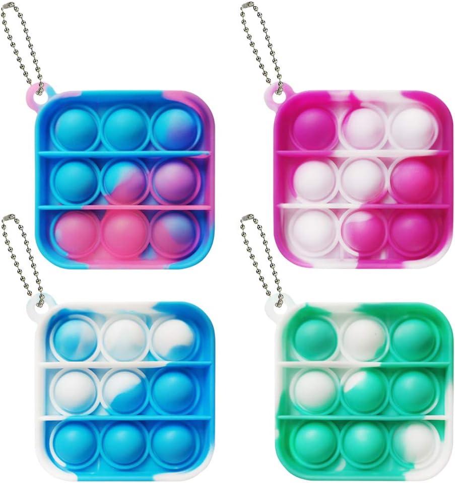 4Pcs Mini Tie dye Push Sales pop Ranking TOP2 Sensory Fidget Toy Us An Bubble