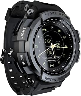 Anself LOKMAT MK28 Smart Watch 1.14inch Screen BT4.0 Life Waterproof Pedometer Calories Alarm Sports Men Smartwatch for An...