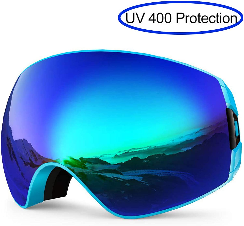 BIEE Erwachsene Ski Snowboard Skatingbrillen, Breite beschlagfreie Anti-Fog-Schutzbrille, Skibrille mit UV400-Schutz B07MJ2KQTX  Der neueste Stil
