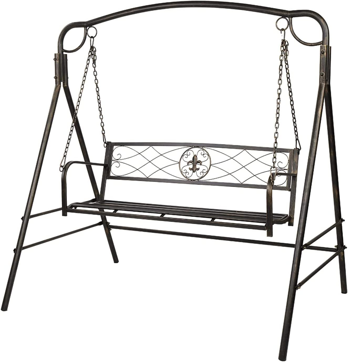 HDHUIXS Compactly Flat gift Tube Double Swing Line Back Br Chair Popular shop is the lowest price challenge Thin