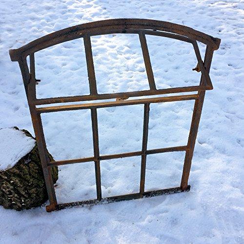 Antikas - Scheunenfenster zum Öffnen - Eisen Fenster Mauerruine - Eisenfenster Stall