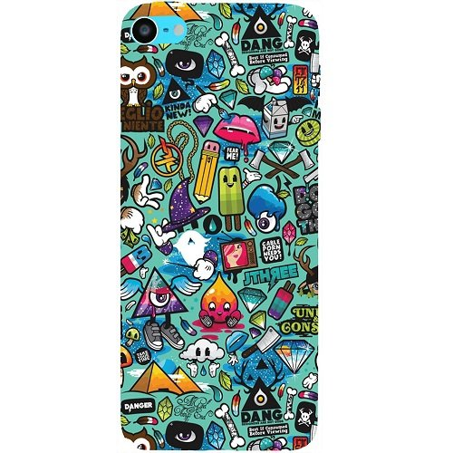 Casotec Crazy Design Hard Back Case Cover for Apple iPod Touch 6th Generation
