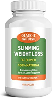 Slimming Weight Loss 100% Natural Aid and Diet Pill for Powerful Fat Burning and Appetite Suppression. Excellent for Keto ...