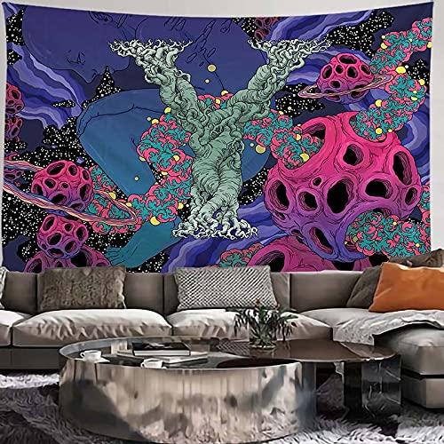 KHKJ Tapiz Indio de delfín Mandala Tapiz Colgante de Pared decoración Boho macramé Hippie Tapiz de brujería A8 230x180cm