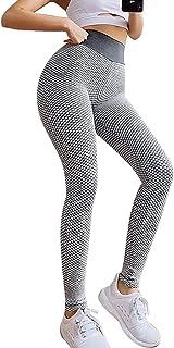 Grenf Yoga Pants for Women Honeycomb, High Waist Work Out Yoga Pants Outdoor Elastic Leggings for Running(Send Headwear)