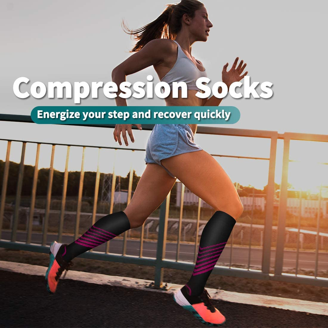 Flight Travel Compression Sock Women and Men-Best Running Athletic Sports Crossfit