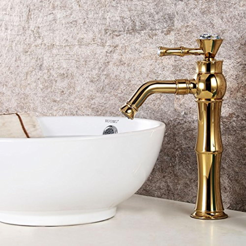 Bijjaladeva Wasserhahn Bad Wasserfall Mischbatterie Waschbecken Waschtisch Armatur für BadDas Kupfer Bohren Badezimmer Waschbecken Waschbecken Waschtisch Mischer einfügen Ein