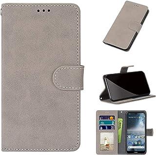 GARITANE Skal kompatibel med LG X Cam/K580, mobiltelefonfodral fodral med magnet kortfack skyddshölje matt retro läderfodr...