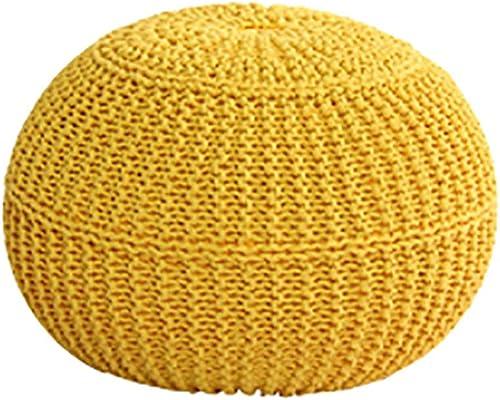 Faules Sofa Sitzsack, Balkon Mini Cotton Thread Sitzsack Sofa, Partikel Gefüllt, Ohne Knochen Design, Sieht Aus Wie Rund, Sehr Niedlich (Farbe   Gelb)